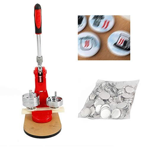 58mm Buttonmaschine Herstellt Satz Personalisierte Abzeichenmaschine + Form + 500 Stücke Rohlinge + Cutter
