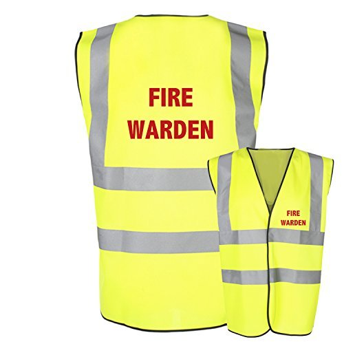 FUOCO Warden SALUTE E Safety alta visibilità visibilità GILET Safety GILET GILè - Giallo, 3XL