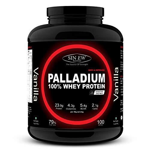 Sinew Nutrition Palladium Whey Protein with Digestive Enzymes (3 kg, Vanilla)