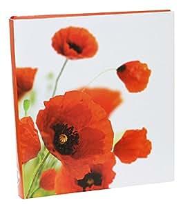 Idena Jumbo Album papavero fiore, FSC Mix, circa 31,5 x 33,5 x 5 cm, 50 pagine con pergamena