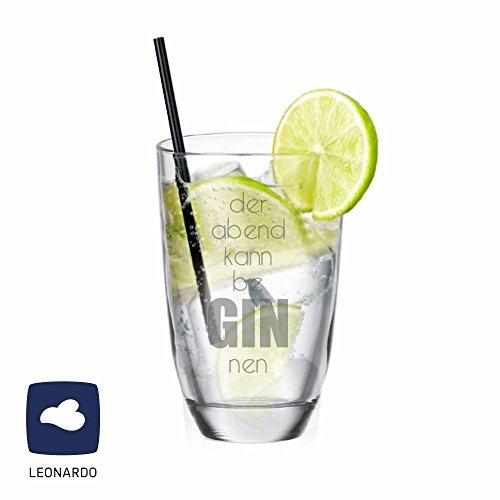 Leonardo GIN-Glas der Abend kann be GIN nen - originelles Geschenk - Gin Trinker - für sie/ ihn - Geschenkidee - Geburtstagsgeschenk