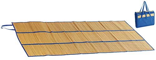 PEARL beach Bastmatte: Faltbare Bast-Strandmatte mit Tragegriffen, 180 x 90 cm (Strohmatte) -