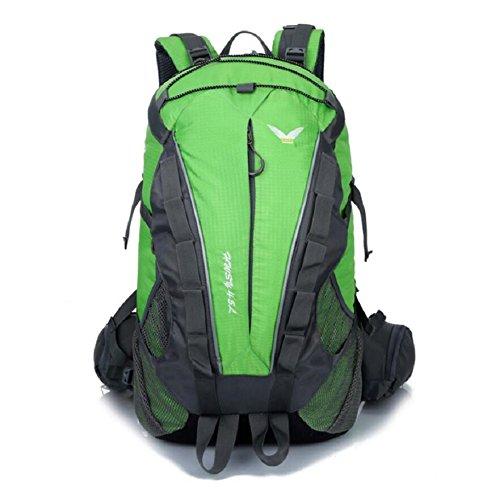 LJ&L Europäischen Stil Klettern Rucksack, hochwertigen Nylon wasserdicht Anti-Riss Anti-Multifunktions-Rucksack, Männer und Frauen allgemeinen Rucksack D