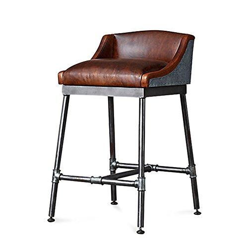 Chenyang86 Chair-Fashion Vintage Tabouret de Bar en Fer Chaise (Couleur : Brown, Taille : 50 * 50 * 90cm)