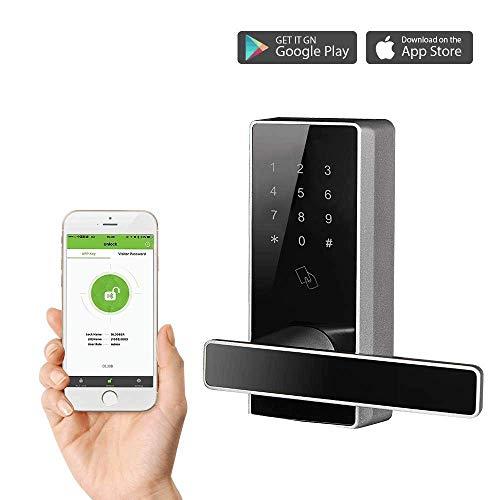 Serrure Bluetooth/Serrure Connectée/Serrure a Code/Serrure Electronique avec 5pcs RFID Cartes par...