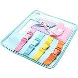 Acutty Conseil d'apprentissage pour bébé, Jouets éducatifs précoces d'apprentissage Portant des vêtements Boucle de Fermeture à glissière pour bébé