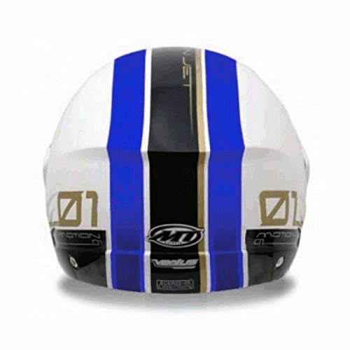 Casco Jet Mt Ventus Decorado BLANCO/AZUL T-XL