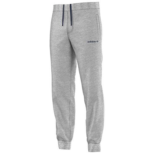 adidas Originals Herren Hose Fitted Sweatpants French Terry, Medium Grey Heather, XL, S89925 (Baumwolle Knit Pants Terry)