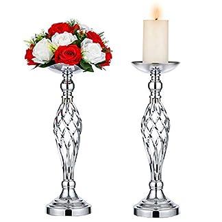 Juego De 2 Portavelas Versátiles De Metal con Diseño De Flores, para Bodas, Fiestas, Mesas, Eventos, Restaurantes, Hoteles, Decoración