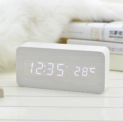 lifetsmart-white-wooden-grain-design-white-light-decorative-desktop-alarm-clock-with-time-and-temper