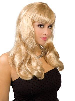 ique, blond (Blonde Perücke Mit Pony Halloween)