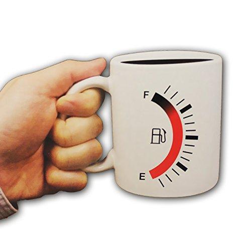 Tankanzeige Becher ca. 10x8 cm reagiert auf Wärme Tee Kaffee Kaffeebecher