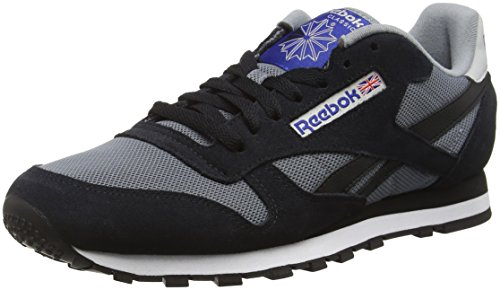 Reebok Herren Classic Sport Clean Sneakers Mehrfarbig (Asteroid Dust/Black/Skull GRY/Tm Drk Royal)