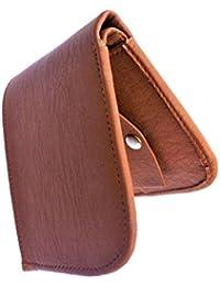 Top Grain Stylish Bi Fold Leather Wallet For Men (Tan Curve)
