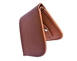 Top Grain Stylish Bi Fold Leather Wallet for Men (Tan Curve)