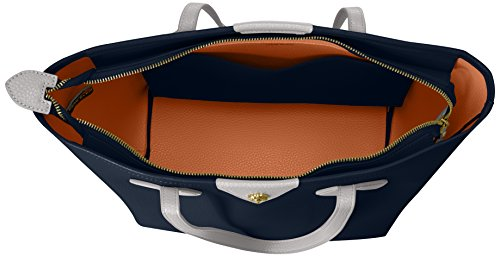 Anne Klein - Ella borsa con zip donna Navy - Orange Blossom