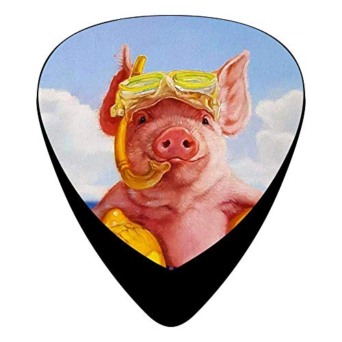 Baked Ham Guitar Picks Celluloid Fashion Girls Complete Assorted 12 Pack -