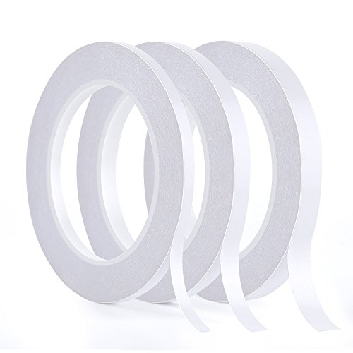 Kuuqa 3 rollos cinta adhesiva doble cara Cinta adhesiva
