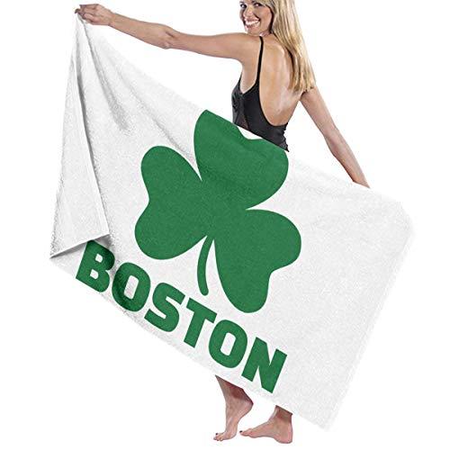 Poikl Boston Irish Shamrock Unisex Strandtücher Badetücher Teen Erwachsene 31x51 Zoll