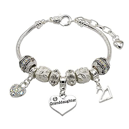 21st Birthday Celebration Charm Bead - Sterling Silver 925 - Gift boxed