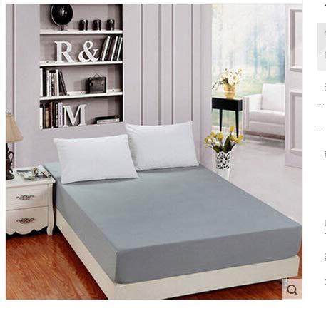 SUYUN Matratzenbezug für Allergiker, Milbenbezug - Matratzenschutz, atmungsaktiv,Matratzenbezug dunkelgrau 150 * 200cm Einzelbett
