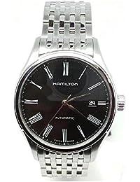 Reloj hamilton Valiant H39515134automático acero quandrante negro correa acero