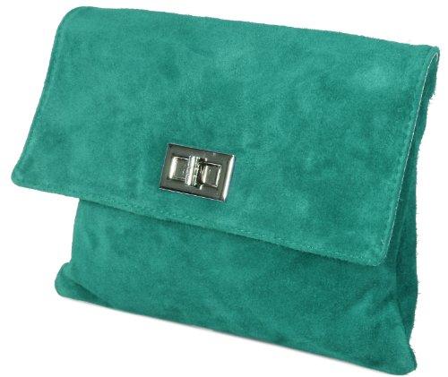 Emmy accessoires Minelli XL -Clutch/ Abendtasche Wildleder, 28x22cm (B x H) Smaragdgrün