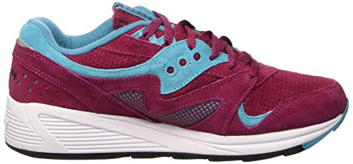 Saucony Grid 8000, Scarpe Low-Top Unisex – Adulto Rosa (Merlot)
