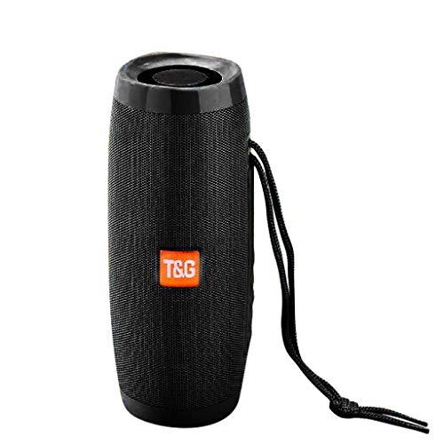 TianranRT♕ Tragbarer Bluetooth-Lautsprecher,Neuer Drahtloser Sd-Bluetooth-Tragbarer Stereo-Audio-Lautsprecher Für Smartphone-Tablet-Pc Hohe Klangqualität,Schwarz (Mini-lautsprecher Panasonic)