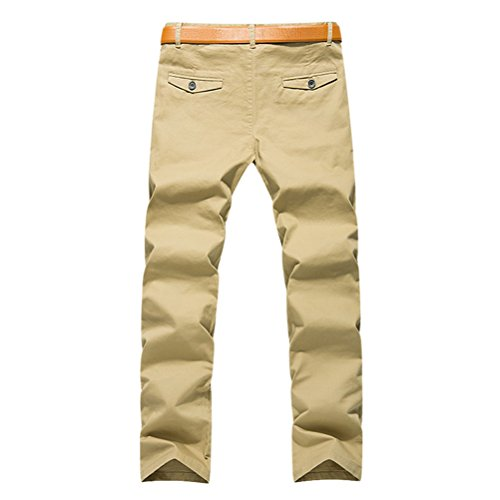 Zhhlaixing Teenagers Teens Mens Uomo Summer Spring Casual Comfortable Trousers Long Pants Soft Material Yellow