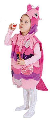 O5308-104 pink-rosa Kinder Fisch Weste Fischkostüm Arielle Goldfisch Gr.104 (Kleid Kostüm-rosa Ariel)