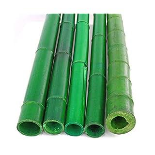 1 Stück Bambus Rohre grün gefärbt, Durch. 8,8-10cm, Länge 300cm