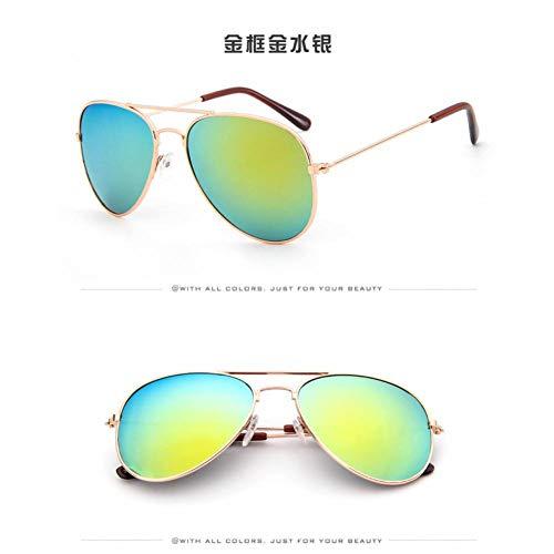 Taiyangcheng Kinderschutzbrille-Mädchenlegierungs-Sonnenbrille-heiße Art und Weise Jungen-Mädchen-Baby-Kind-Nette Sonnenbrille,Gold