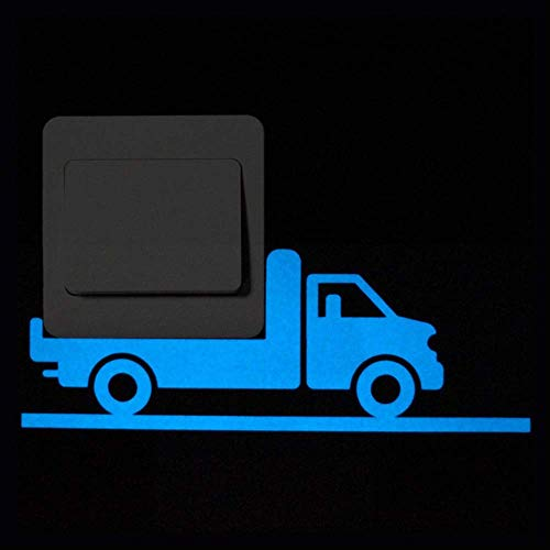 Innovative Blu-Ray-Serie Nightlight Schalter Aufkleber Dreidimensionale Persönlichkeit Cartoon Kleintier Fluoreszierende Wandaufkleber Ray Allen Teams