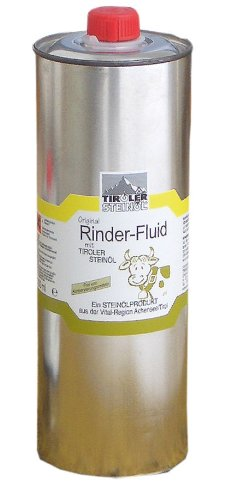 Rinder Fluid Bremsenöl 1000 ml mit Tiroler Steinöl für Rinder und Pferde | Fliegenschutz | Insektenschutz | Bremsenschutz | Gelsenschutz | Tiroler Steinoel (Insektenschutz Pferde)