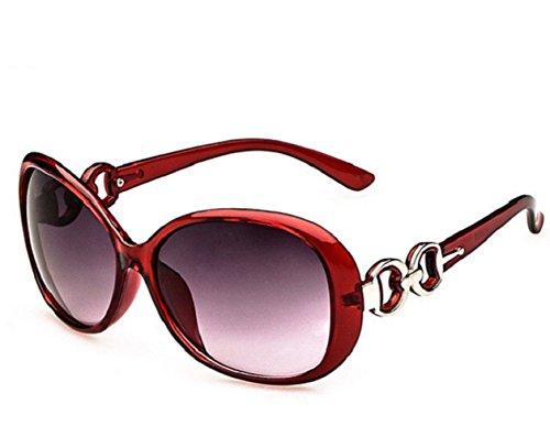 M2-Rot-Sonnenbrille-Frauen-Big Retro Vintage polarisierte (Rote Kostüm Sonnenbrille)
