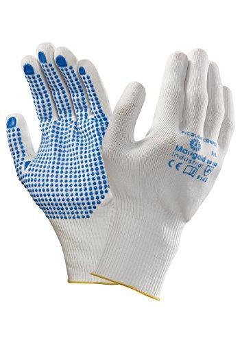 Ansell Picolon Confort Gants pour usages multiples, protection mécanique, Blanc, Taille 8 (Sachet de 12 paires)