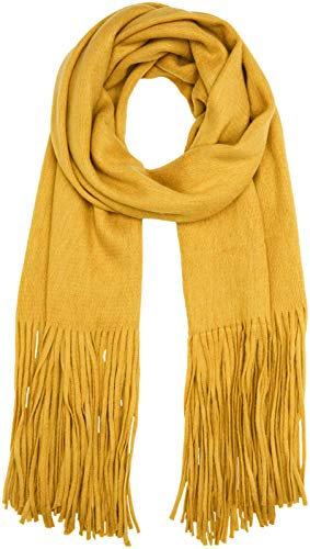PIECES Damen PCDRACE Long Scarf NOOS Schal, Gelb Nugget Gold, One Size