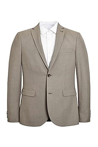 next Homme Coupe Skinny Veste De Costume Chinée Naturel Eu 96.5 Regular (Uk 38R)