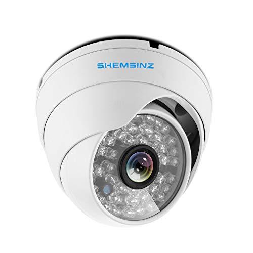 """SHEMSINZ 1/3\""""Lente de 3,6 mm de Alta resolución AHD/TVI / CVI 2.0MP 1080P CCTV cámara de vigilancia para Interiores/Exteriores, visión Diurna y Nocturna, Cable OSD Incorporado"""