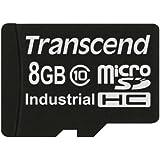 Transcend TS8GUSDC10I - Tarjeta microSD de 8 GB, negro