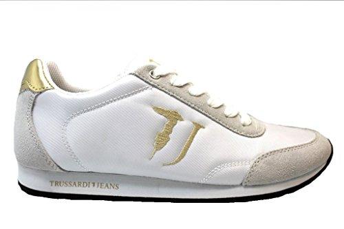 Trussardi Jeans 79S611 Bianco e Nero Sneakers Donna Scarpa Sportiva Nero