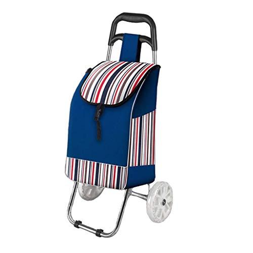 Shopping Carts Für Lebensmittel Mit Rollen Edelstahl Kleine Wagen Falten Tragbare Trolley Haushalts Old Man Gepäck Trailer -