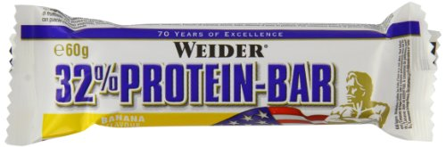 Weider 32% Protein Bar, Banane, 1er Pack (24x 60g Riegel)