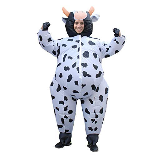 BINGMAX Erwachsener aufblasbarer lustiger Explosions-fetter Mann-Partei-Abendkleid-Halloween-Kostüm-erwachsener Ballerina-Kuh-Anzug machen Fahrt weiter
