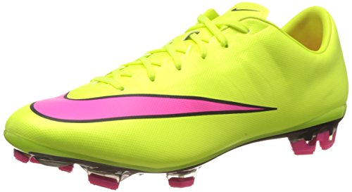 Nike Mercurial Veloce Ii Fg, Chaussures de Football Compétition Homme Jaune (volt/hyper Pink-black 760)