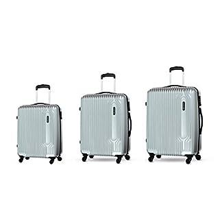 Carlton Carlton Tube – Juego de maletas  unisex adulto plateado plata S, M, L