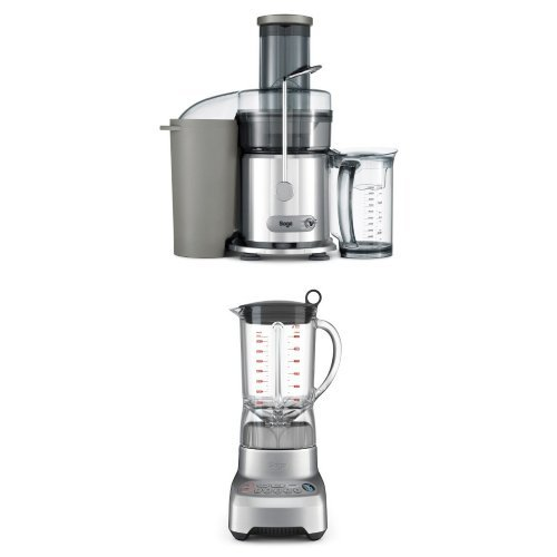 Sage by Heston Blumenthal the Silver Nutri Juicer with the Kinetix Control Blender, 1.5 L, 1200 W Bundle
