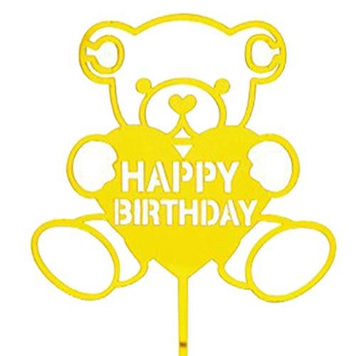LafyHo Alles Gute zum Geburtstag Mädchen-Jungen-Kuchen-Deckel Acryl-Cartoon-Geburtstags-Kuchen Married Top-Flagge