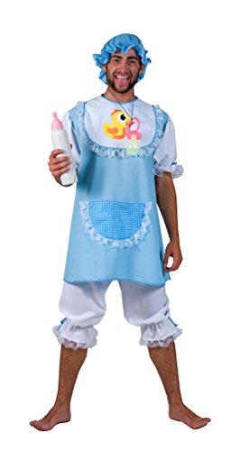 Karneval-Klamotten Baby Kostüm Erwachsene Herren-Kostüm blau-weiß Karneval Fasching Größe 48/50